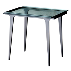 Pictured here is the forged iron Madison End Table available in numerous fine iron finishes and table tops to choose from.