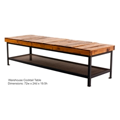 "Warehouse 72"" Cocktail Table"