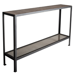 "Wrought Iron Warehouse 60"" Console by Charleston Forge"