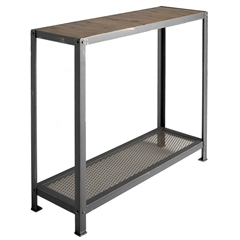 "Wrought Iron Warehouse 36"" Console by Charleston Forge"