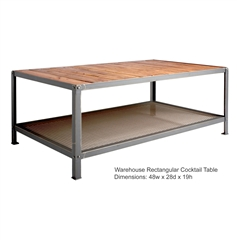 Warehouse Rectangular Cocktail Table