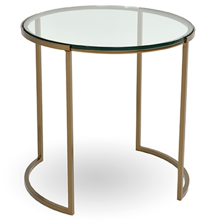 Pictured here is the Taylor Round End Table manufactured by Charleston Forge.
