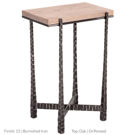 Wrought Iron Nash Rectangular Drink Table by Charleston Forge