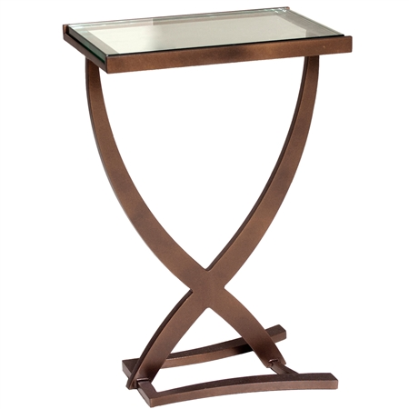 "Pictured is the Sterling Drink Table hand crafted by the artisans of Charleston Forge, with a variety of fine finishes to choose from.  W 15.5"" x D 10"" x H 23.25"""