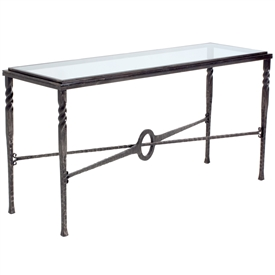 Wrought Iron Omega Console Table