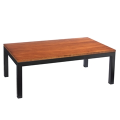 Wrought Iron Parsons Rectangular Cocktail Table by Charleston Forge