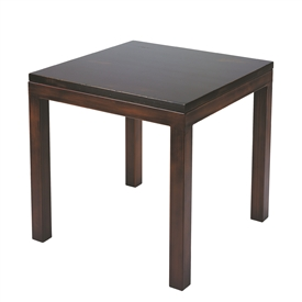 Pictured here is the forged iron Parsons End Table available in numerous fine iron finishes and table tops to choose from.