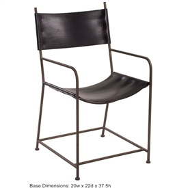 Wrought Iron Studio Arm Chair By Charleston Forge