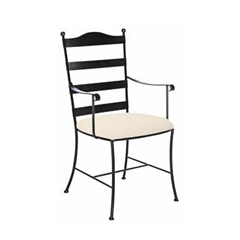 Metal Ladder Back Arm Chair