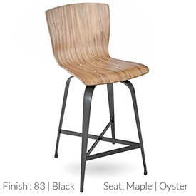 Pictured here is the Fresno Swivel Bar Stool with hand forged quality craftsmanship with fine iron finishes and upholstery options to choose from.