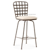 Pictured here is the Manchester Swivel Bar Stool with Arms, quality hand forged construction with various iron finishes and leather or fabric upholstery options.