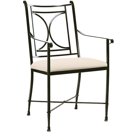 Pictured here is the Blackberry Road Dining Chair handcrafted by Charleston Forge. Available in serveral custom finish and seat options.
