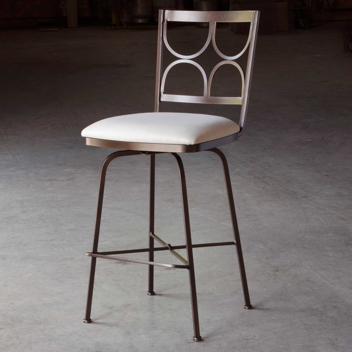 Penelope Swivel Counter Stool With Arms 26 In Seat Height