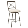Pictured here is the Barkley Swivel Bar Stool , quality hand forged construction with various iron finishes and leather or fabric upholstery options.