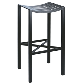 Pictured here is the Parsons Backless Counter Stool | Metal Seat with hand forged quality craftsmanship with fine iron finishes to choose from.