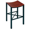 Pictured here is the Parsons Backless Counter Stool | Wood Seat with hand forged quality craftsmanship with fine iron finishes and upholstery options to choose from.
