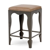 Pictured here is the Paris Backless Bar Stool, quality hand forged construction with various iron finishes and leather or fabric upholstery options.
