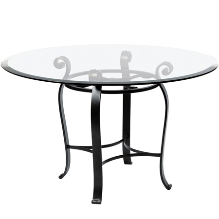 "Pictured is the Camino 60"" Dining Table with custom iron finish and top options for you to choose. Comfortably seats 8"