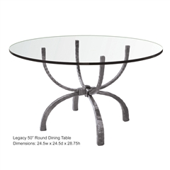 Wrought Iron Legacy 50in Round Dining Table by Charleston Forge