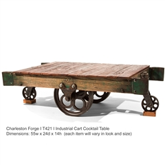 Industrial Cart Cocktail Table