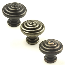 Omega Zinc Die Cast Knob 1-3/8in diameter by Century Hardware