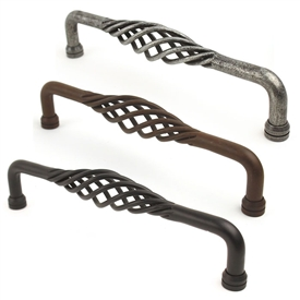 Saxon Wrought Iron Appliance Pull 10in center by Century Hardware