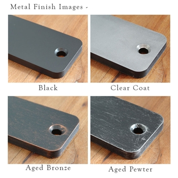 Pictured here is the Metal Corbel Finish Sample Kit for all Timeless Wrought Iron brand corbels.