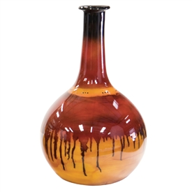 Pictured here is the Red Dawn Large Glass Bottle from Couleur