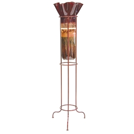 Pictured here is the Sugar Plum Large Glass Floor Urn with Ruffle Top from Couleur