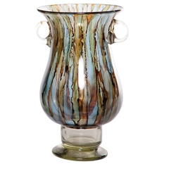 Pictured here is the Cool Water Two Handled Glass Urn from Couleur