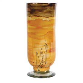Pictured here is the Sunburst Hurricane Glass Vase from Couleur