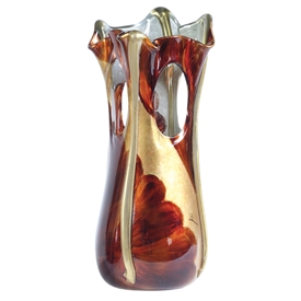 Pictured here is the Signature Large Golden Glass Vase from Couleur