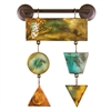Pictured here is the Prism Metal Wall Art 2 with hand painted panels.