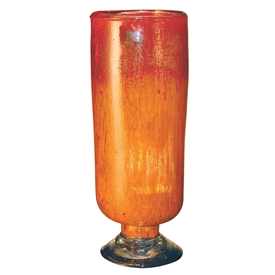 Pictured here is the Orange Glow Glass Cylinder with Base from Couleur