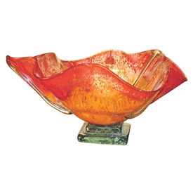 Pictured here is the Orange Glow Round Glass Bowl from Couleur