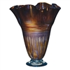 Pictured here is the Riviera Sand Ruffle Glass Vase from Couleur