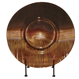 Pictured here is the Riviera Sand Glass Charger with Iron Stand from Couleur