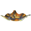 Pictured here is the Feather Gold Triangle Glass Bowl from Couleur