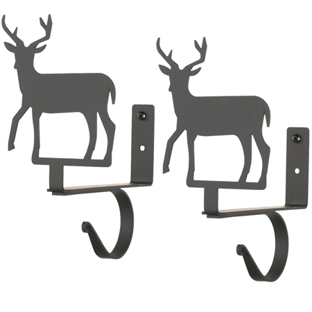 Wrought Iron Deer Curtain Shelf Brackets