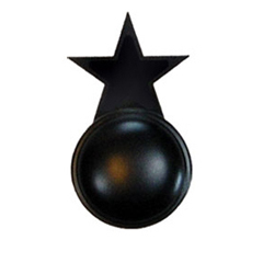 Wrought Iron Star Cabinet Door Knob