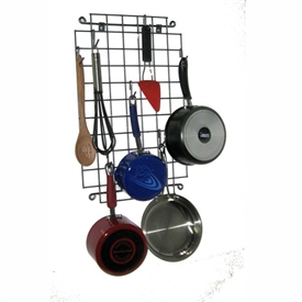 Wrought Iron Enclume Grid Wall Rack by Enclume