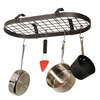 Enclume Low Ceiling Oval Pot Rack with Grid
