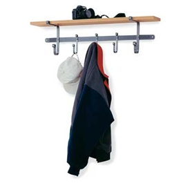 Wrought Iron Coat Rack With shelf made in the USA by Enclume, sold by Timeless Wrought Iron.