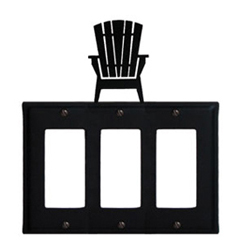 Wrought Iron Adirondack Triple GFI Cover