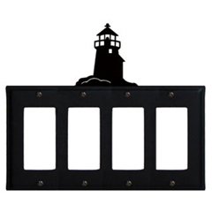 Wrought Iron Lighthouse Quad GFI Cover