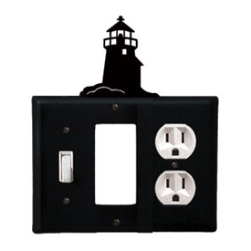 Wrought Iron Lighthouse Combination Cover - Switch, GFI and Outlet