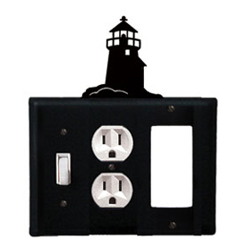 Wrought Iron Lighthouse Combination Cover - Switch, Outlet and GFI