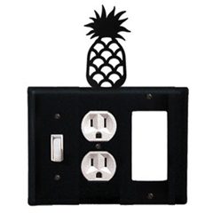 Wrought Iron Pineapple Combination Cover - Switch, Outlet and GFI
