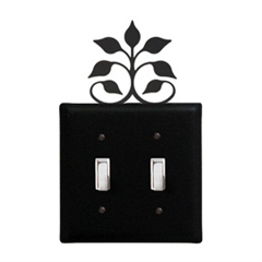 Leaf Fan Double Switch Plate