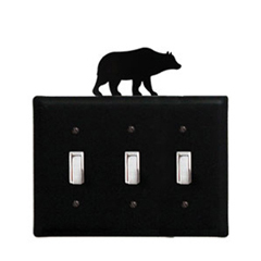 Wrought Iron Bear - Switch Cover Triple